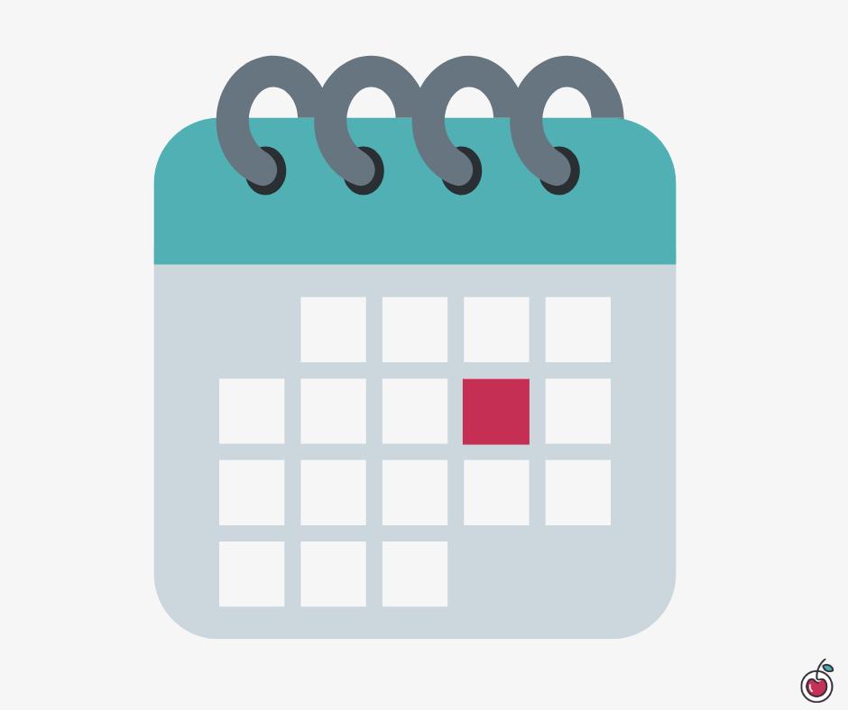 immagine di un modello di calendario per la pianificazione settimanale